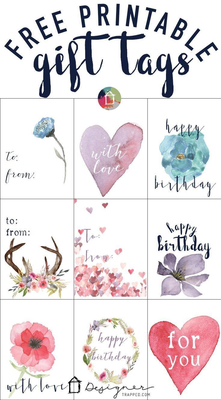 Free Printable Gift Tags For Birthdays   Pocket Scrapbooking   Free - Free Printable To From Gift Tags