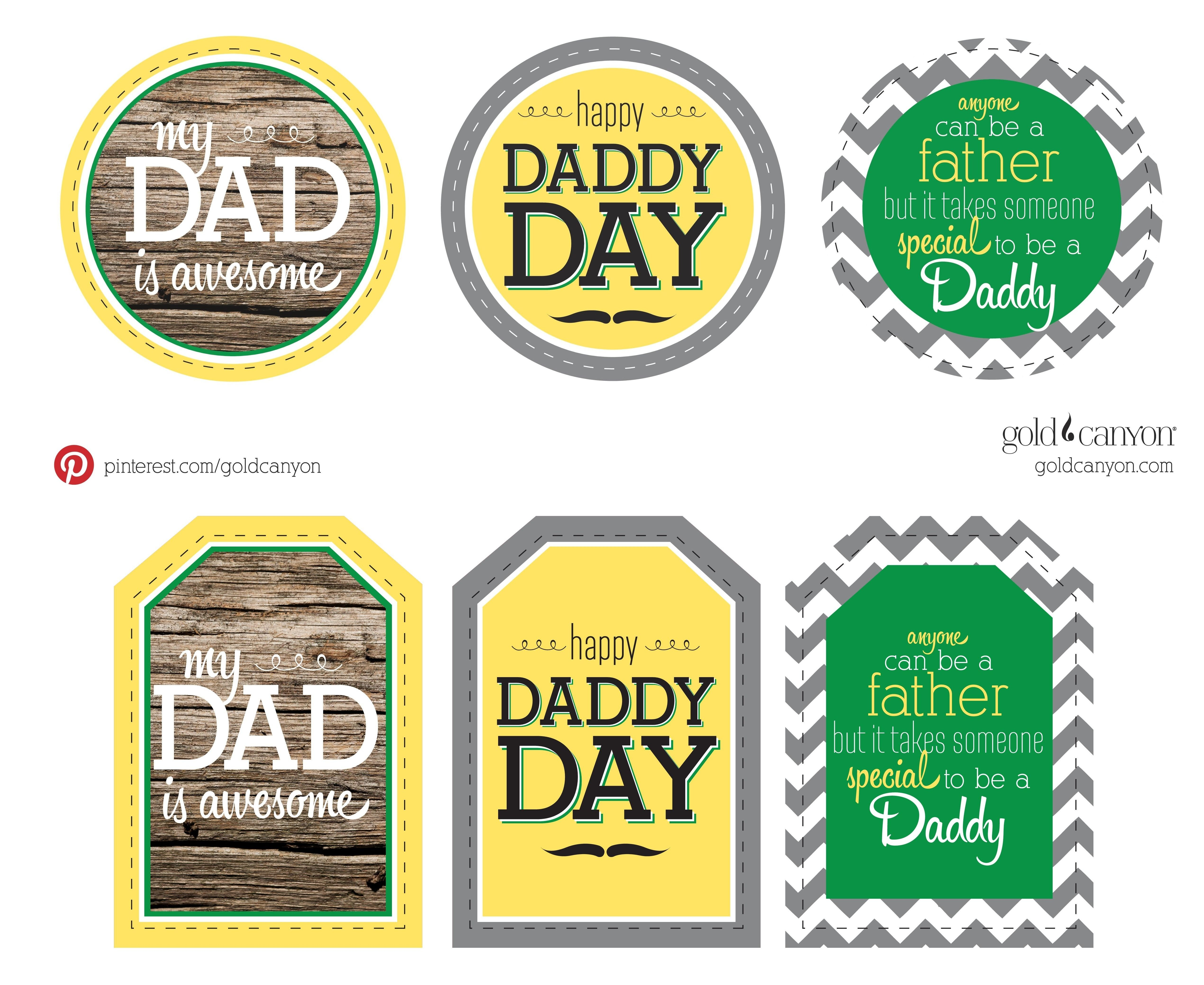 Free Printable Gift Tags For Dad's Day! Show Your Daddy, Brother - Free Printable Father's Day Labels
