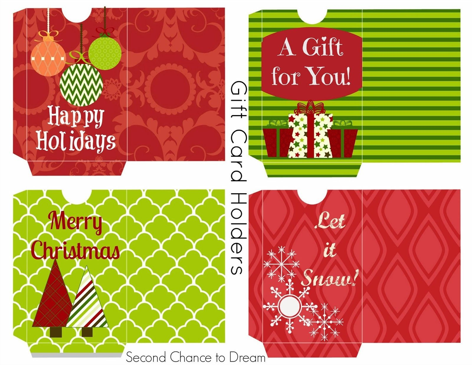 Free Printable Gift Tags & Gift Card Holders   Christmas Printables - Free Printable Christmas Gift Cards