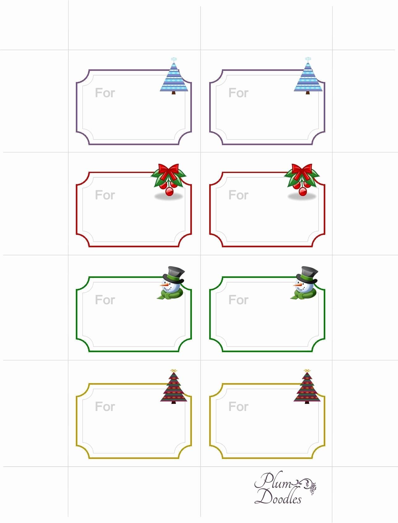 Free Printable Gift Tags Template | Pictimilitude - Free Printable Blank Gift Tags