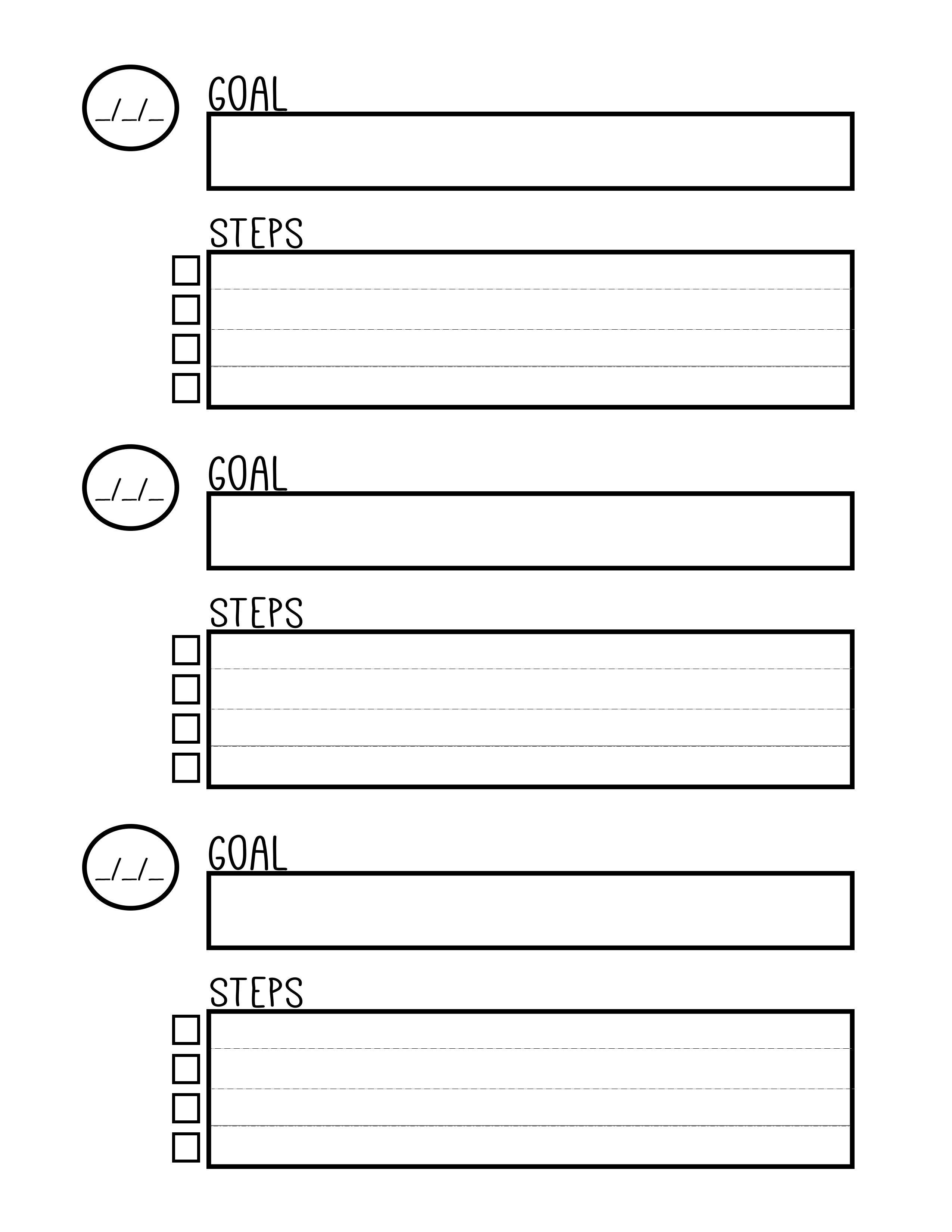 Free Printable Goal Setting Worksheet - Planner … | Education - Free Printable Goal Setting Worksheets For Students
