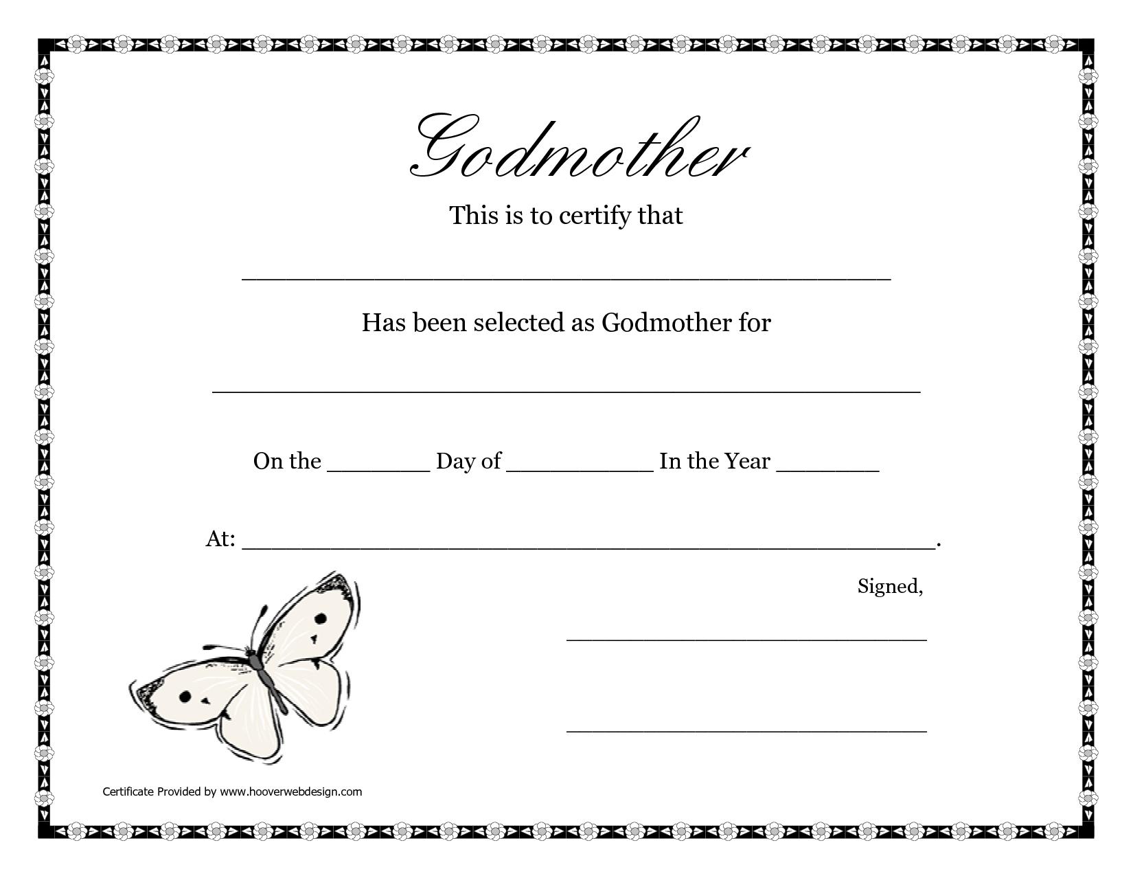 Free Printable Godparent Certificates | Printable Godmother - Will You Be My Godmother Printable Card Free