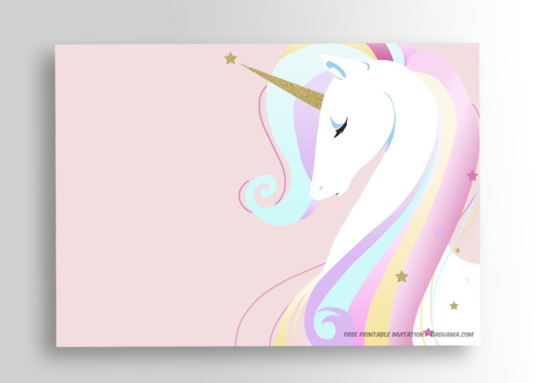 Free Printable Golden Unicorn Birthday Invitation Template | Party - Free Printable Unicorn Birthday Invitations
