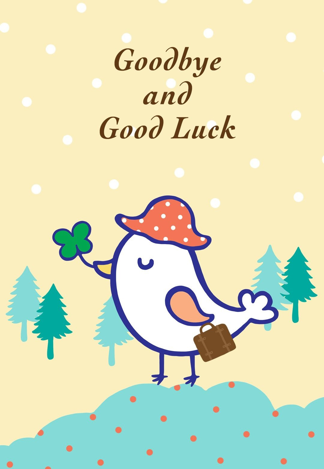 Free Printable Goodbye And Good Luck Greeting Card | Littlestar - Free Printable Farewell Card For Coworker