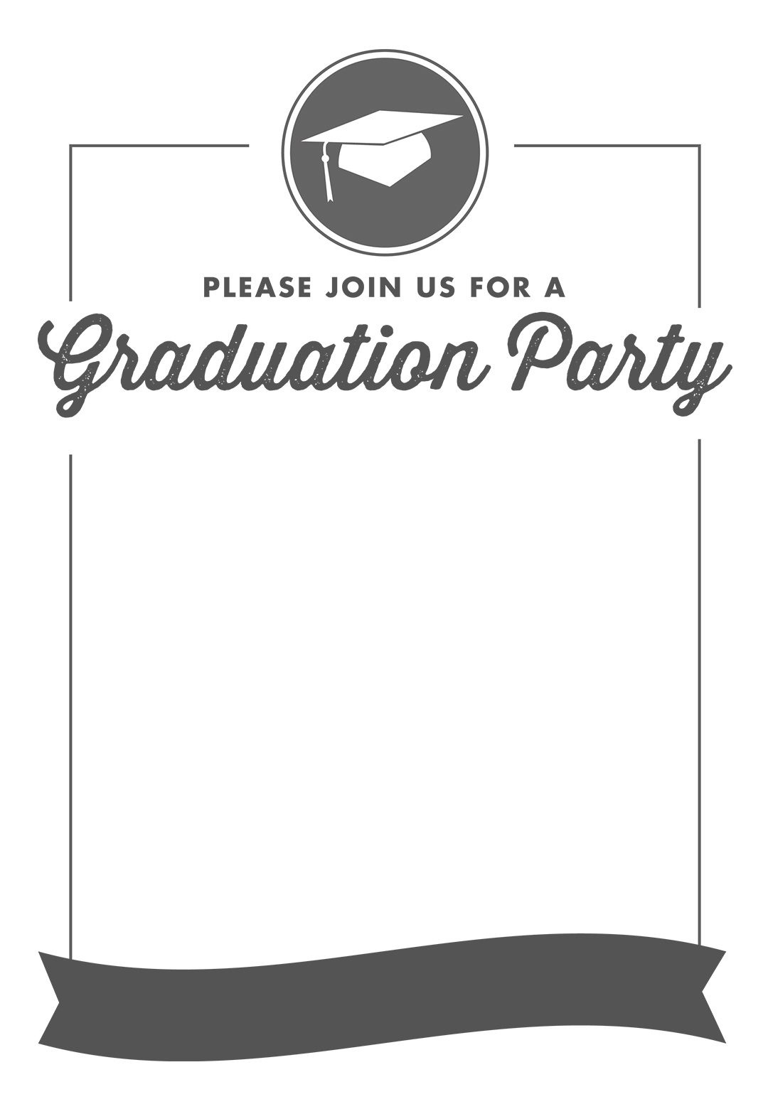 Free Printable Graduation Party Invitation Template | Greetings - Free Printable Graduation Party Invitations 2014
