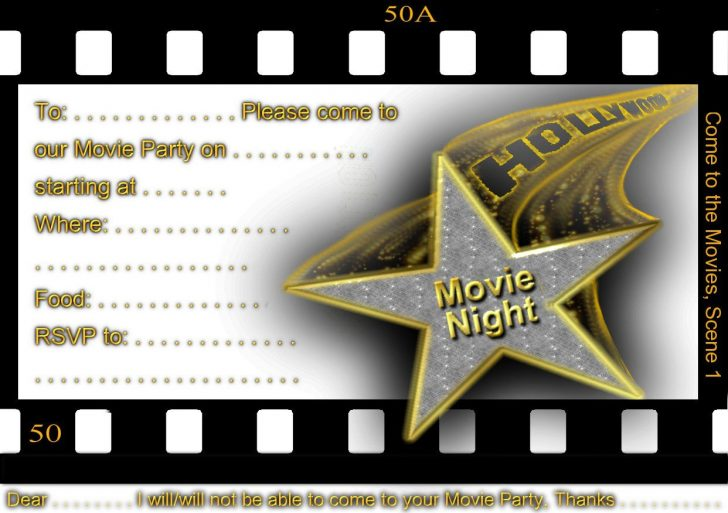 Movie Birthday Party Invitations Free Printable