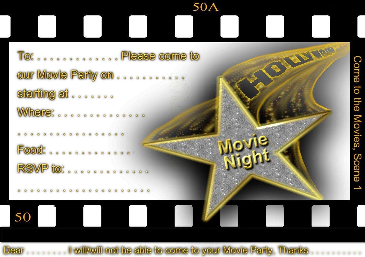 Free Printable Gratuation Movie Themed Invitations | Printable Movie - Movie Birthday Party Invitations Free Printable