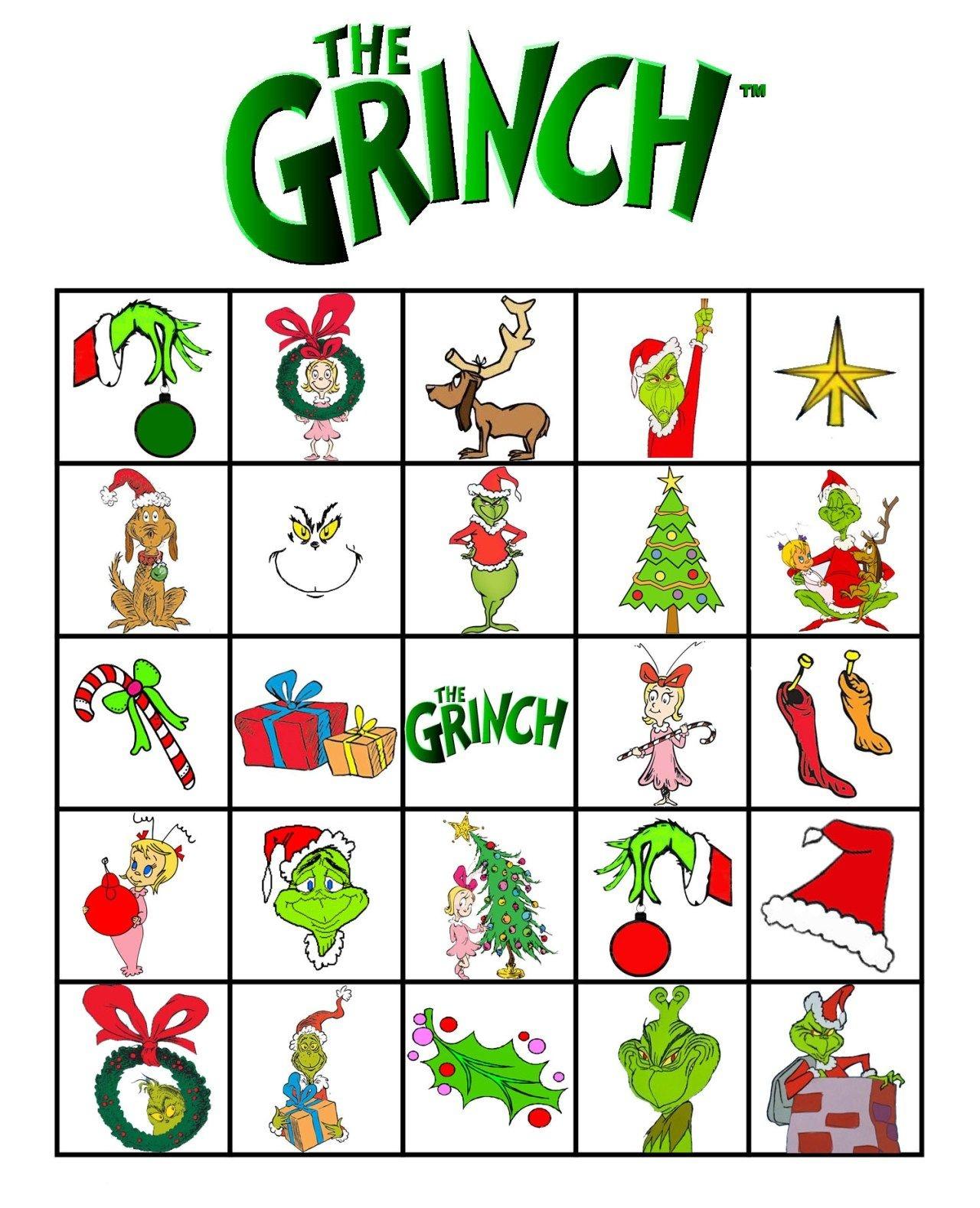 Free Printable Grinch Bingo! | Grinch | Grinch, Grinch Christmas - Grinch Pills Free Printable