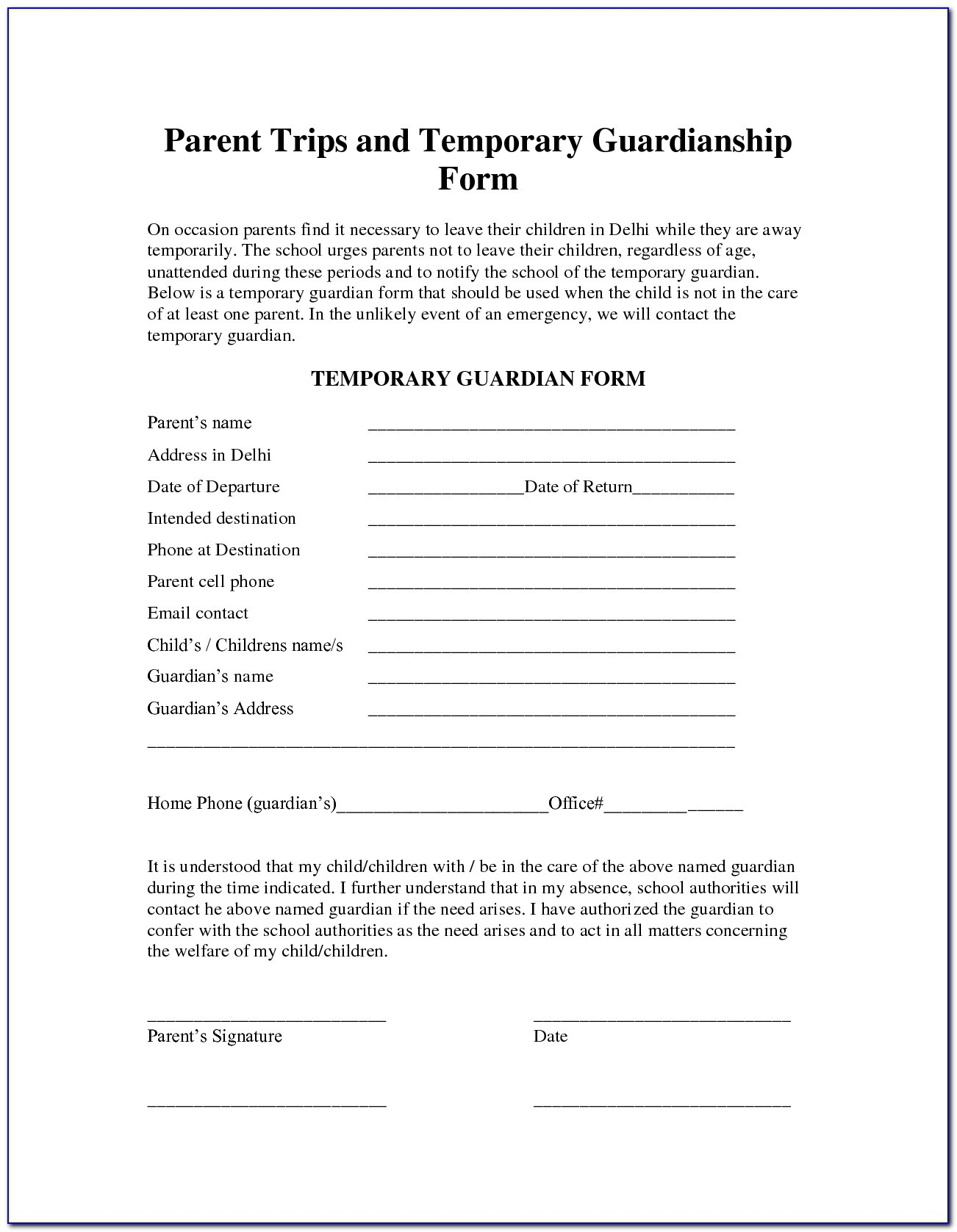 Free Printable Guardianship Forms Florida - Form : Resume Examples - Free Printable Child Guardianship Forms