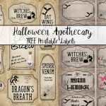 Free Printable Halloween Apothecary Labels: 16 Designs Plus Blanks!   Free Printable Halloween Labels