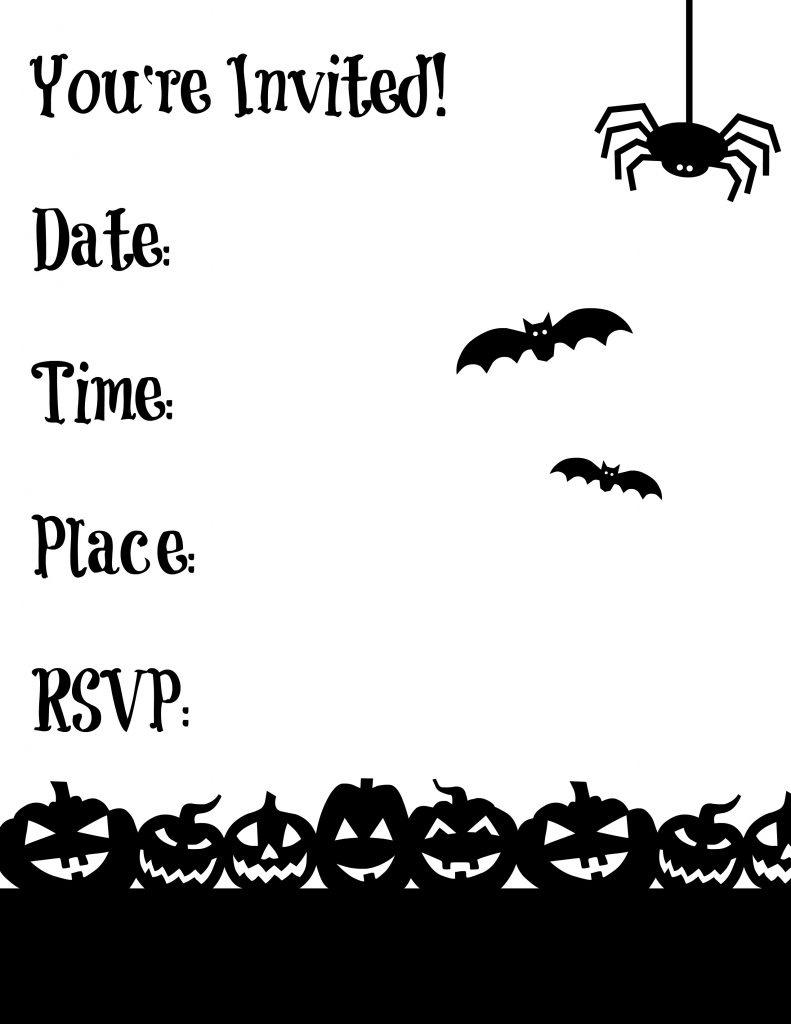 Free Printable Halloween Garland   Making Life Blissful - Halloween Invitations Free Printable Black And White