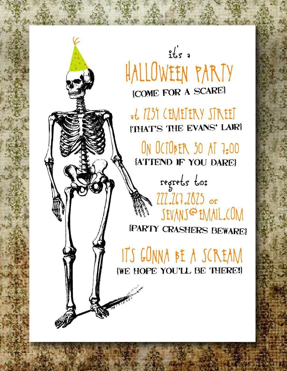 Free Printable Halloween Invitation Templates   Free Printable - Free Online Halloween Invitations Printable
