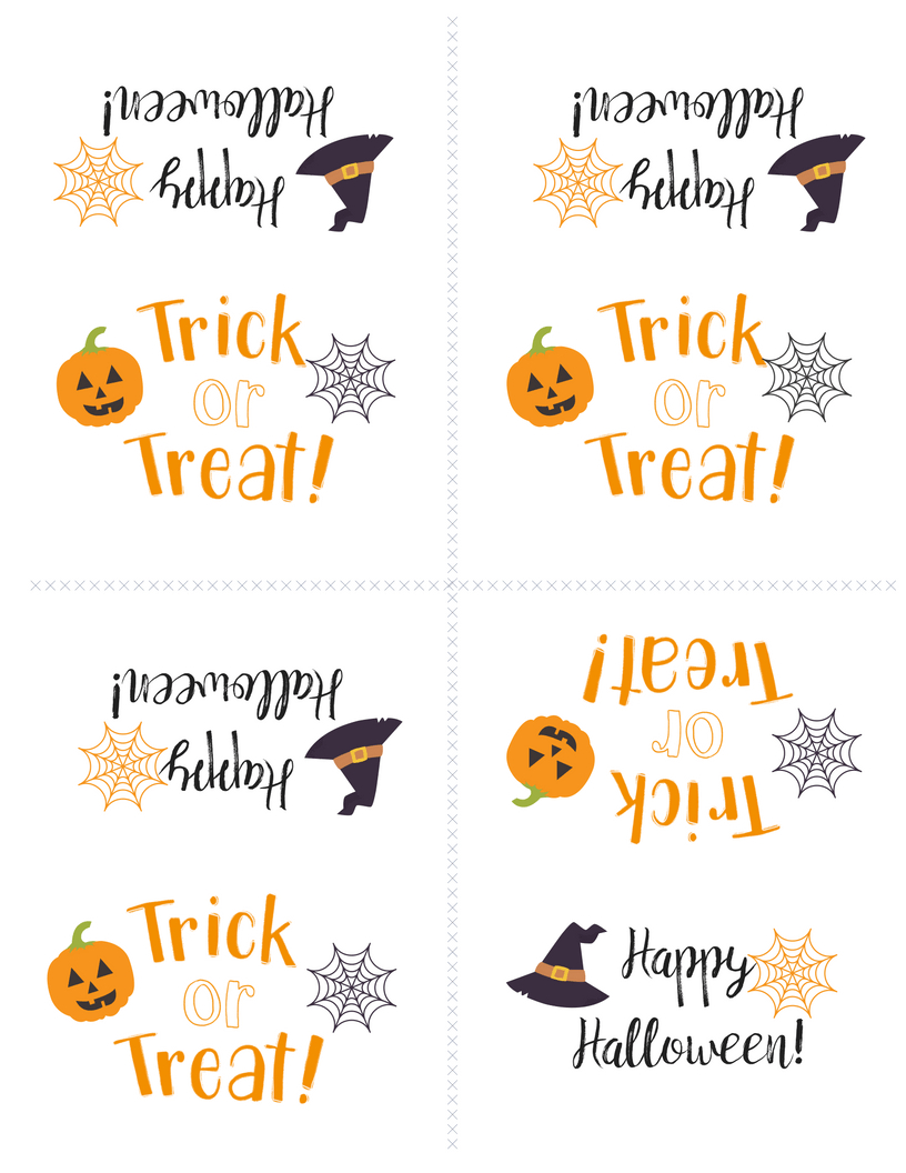 Free Printable Halloween Treat Bag Topper | Simply Happy Mama - Free Printable Trick Or Treat Bags