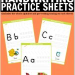 Free Printable Handwriting Worksheets Including Pre Writing Practice   Free Printable Handwriting Worksheets