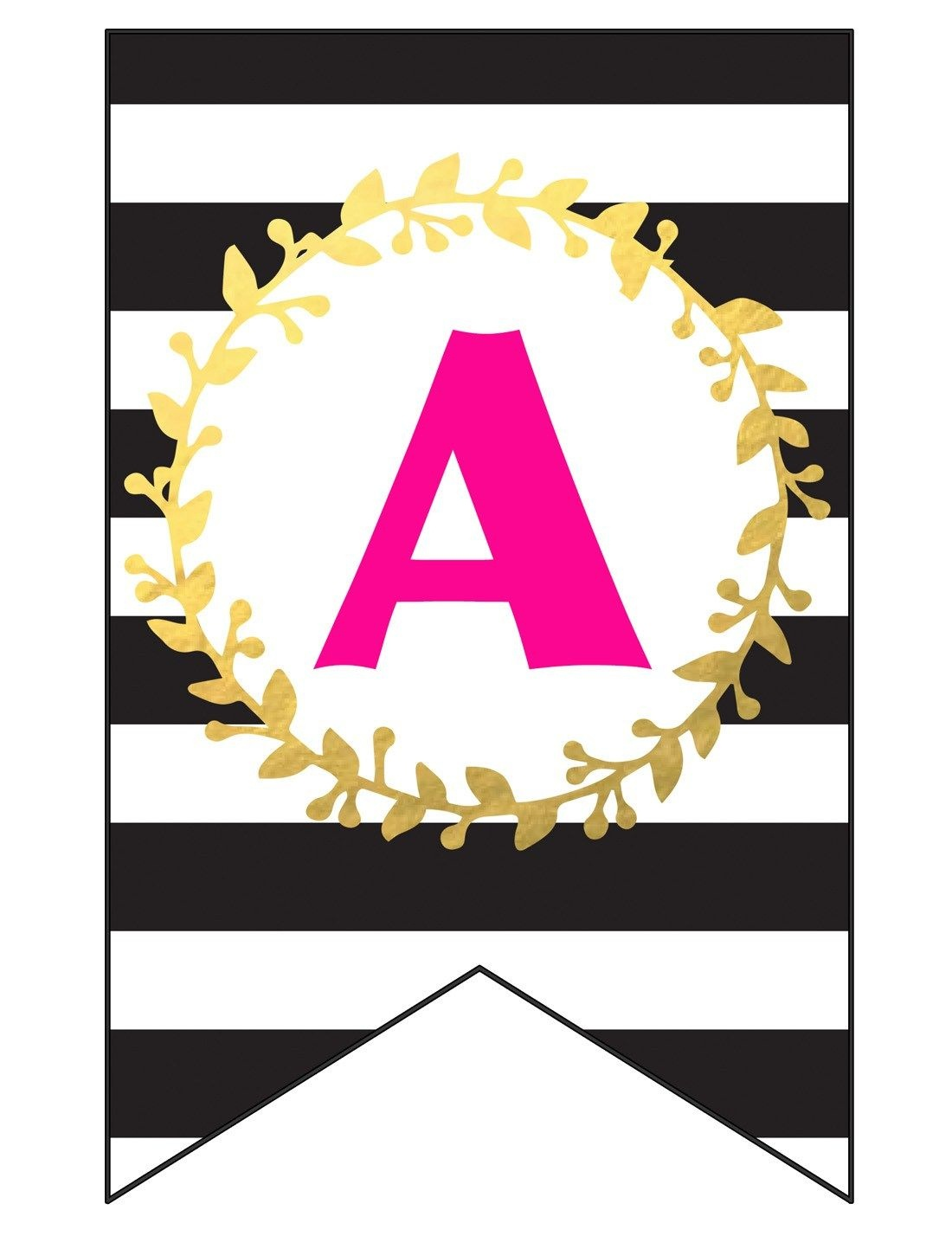 Free Printable Happy Birthday Banner And Alphabet   Black White - Free Printable Happy Birthday Banner