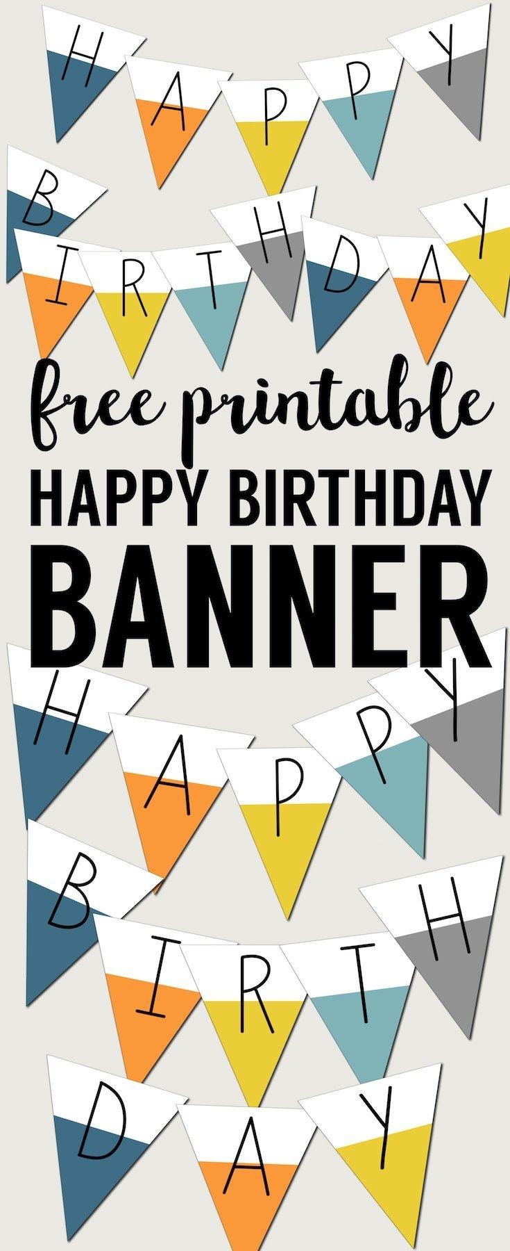 Free Printable Happy Birthday Banner | Preschool | Happy Birthday - Free Printable Happy Birthday Signs