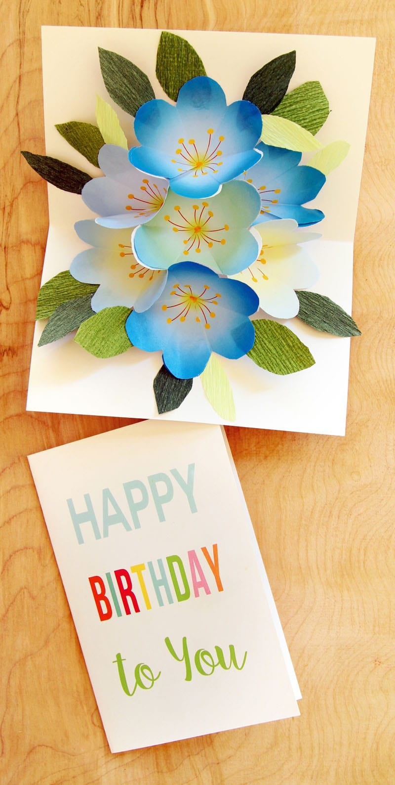 Free Printable Happy Birthday Card With Pop Up Bouquet - A Piece Of - Create Greeting Cards Online Free Printable