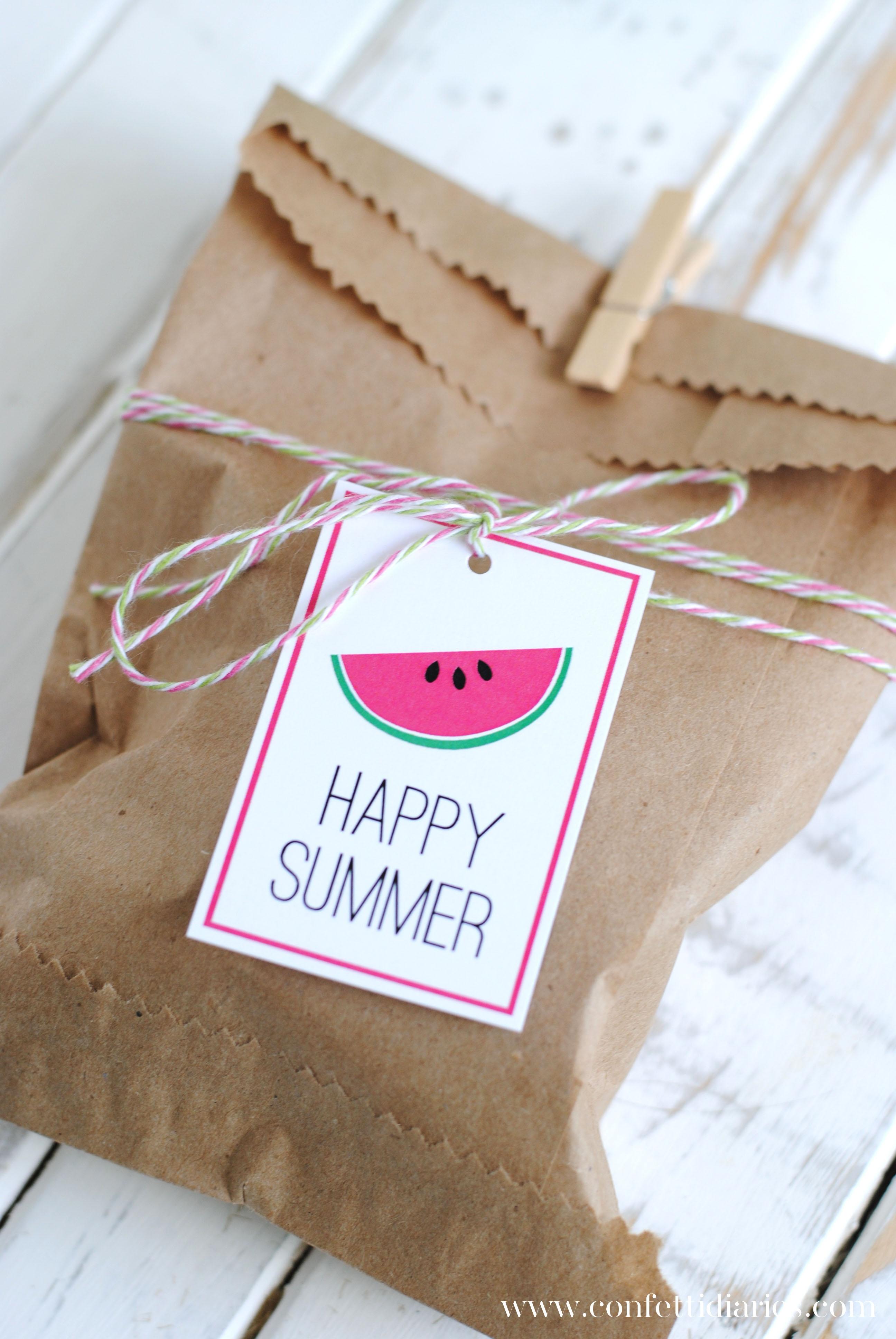 Free Printable Happy Summer Gift Tags - Katarina's Paperie - Free Printable Gift Bag Tags