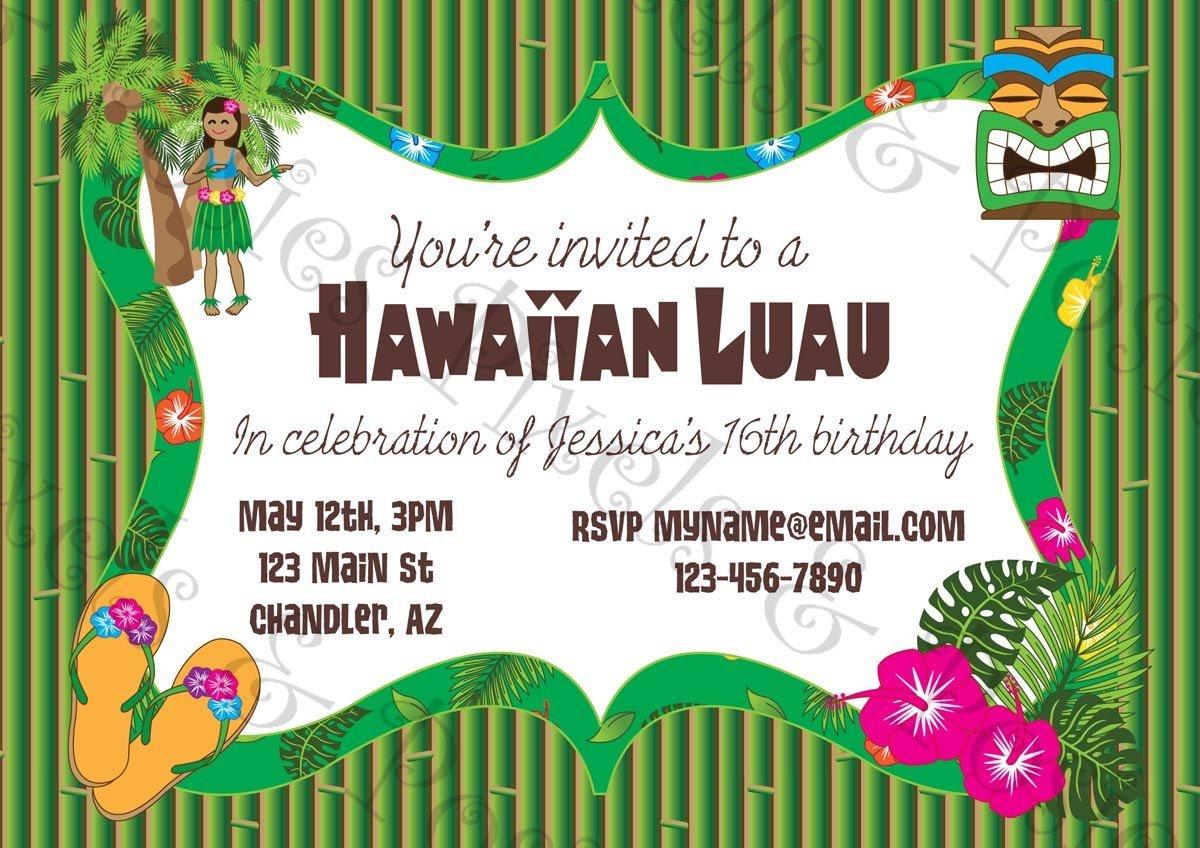 Free Printable Hawaiian Luau Party Invitationsfree Printable - Hawaiian Party Invitations Free Printable