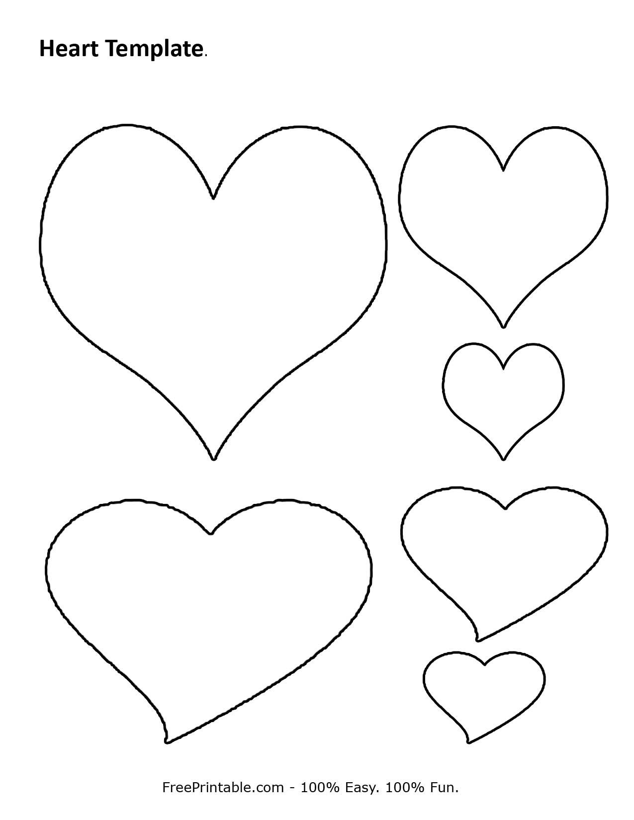 Free Printable Heart Template | Cupid Has A Heart On | Heart - Free Printable Heart Designs