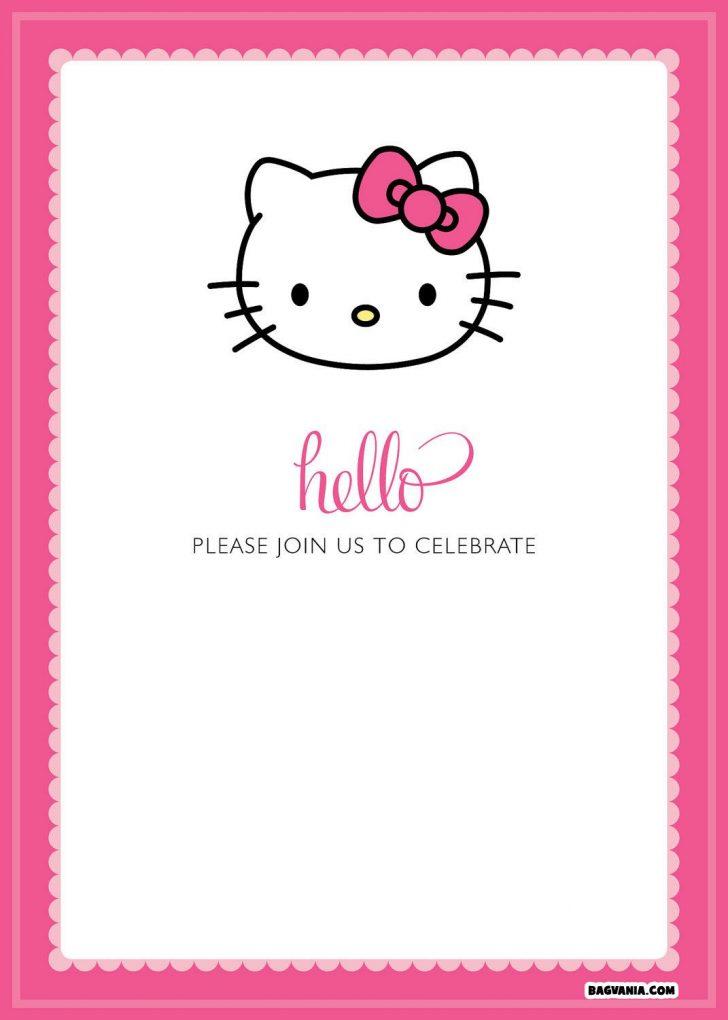 Hello Kitty Free Printable Invitations For Birthday
