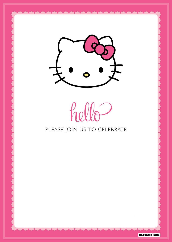 Free Printable Hello Kitty Birthday Invitations – Bagvania Free - Hello Kitty Free Printable Invitations For Birthday