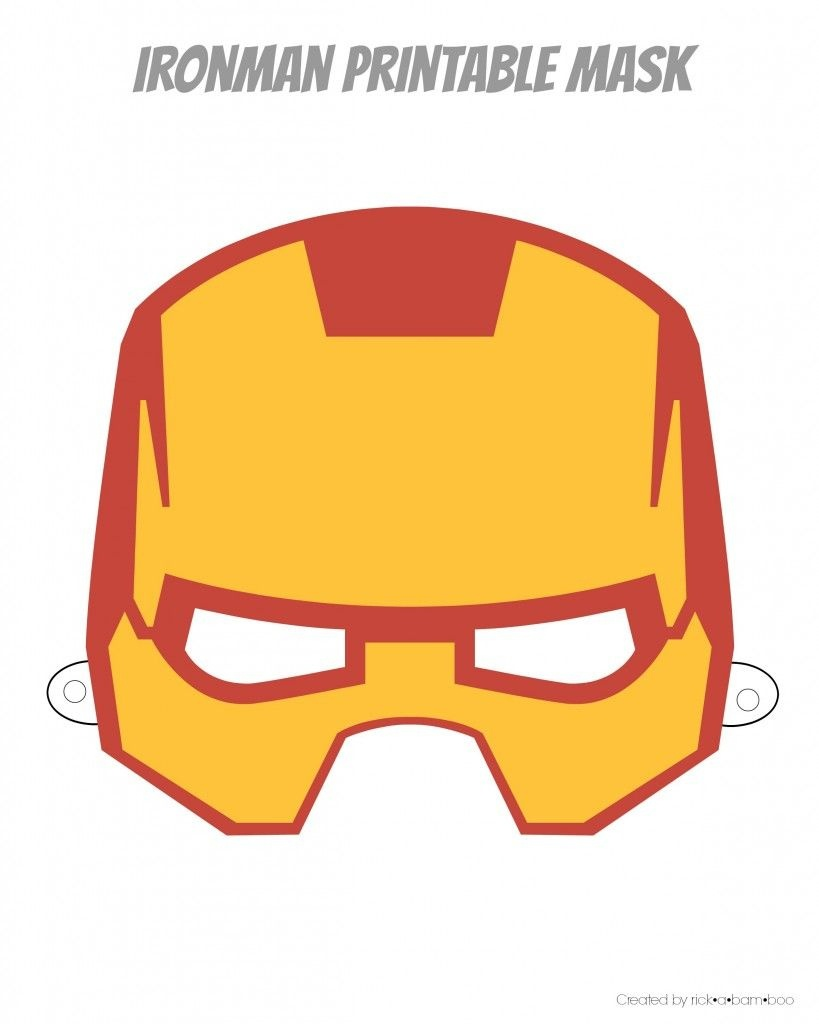 Free Printable Hero Masks | Iron Man Birthday | Superhero Mask - Free Printable Ironman Mask