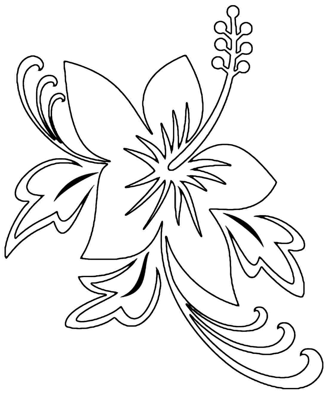 Free Printable Hibiscus Coloring Pages For Kids - Free Printable Hibiscus Coloring Pages