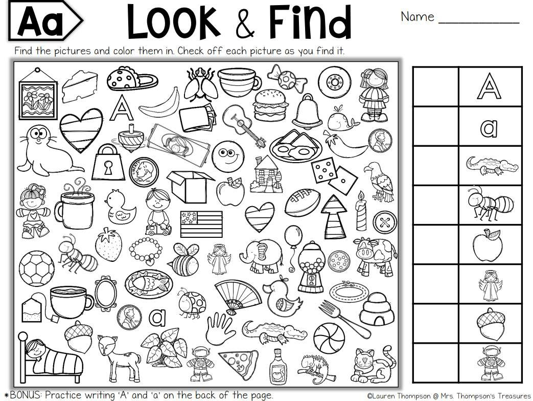 Free, Printable Hidden Picture Puzzles For Kids - Free Printable I Spy Puzzles