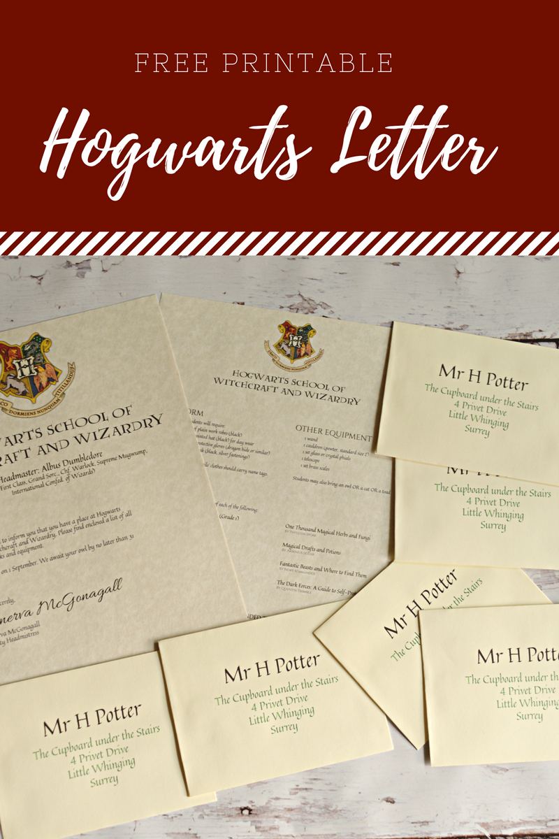 Free Printable Hogwarts Letter - Housewife Eclectic - Hogwarts Acceptance Letter Template Free Printable
