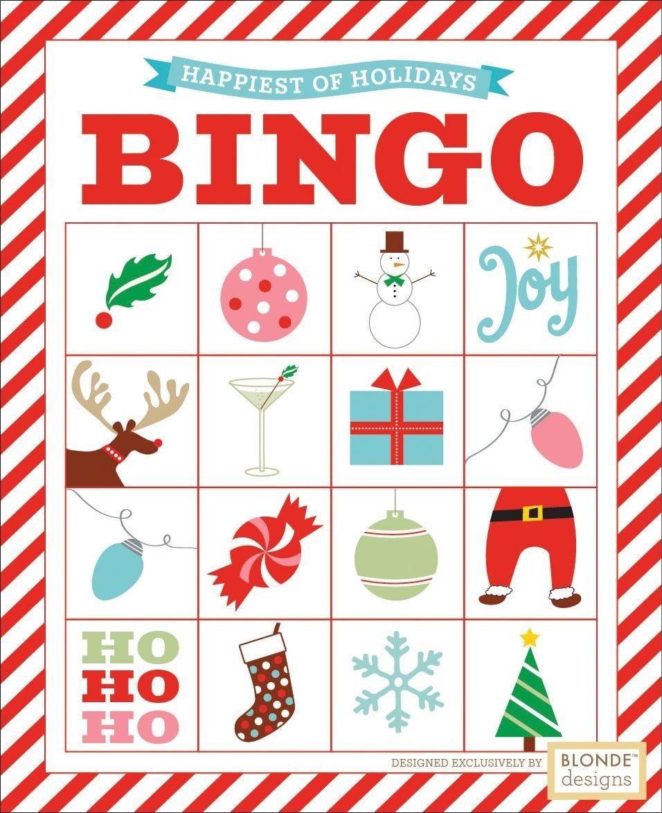 Free Printable: Holiday Bingo {Blonde Designs Blog} | Christmas - Free Printable Christmas Bingo