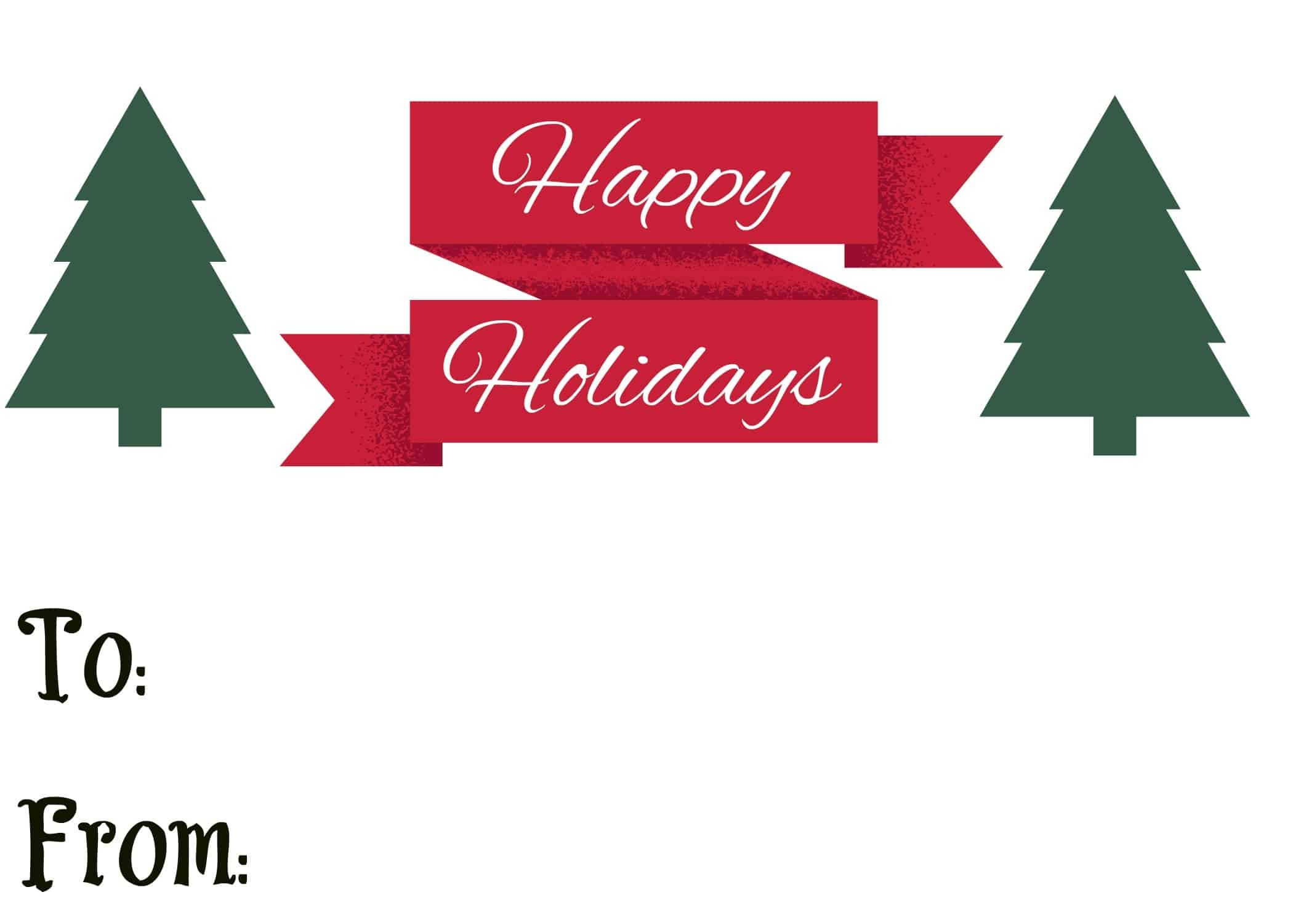 Free Printable Holiday Gift Tags - Great For Magazines, Etc.   Mama - Free Printable Happy Holidays Gift Tags