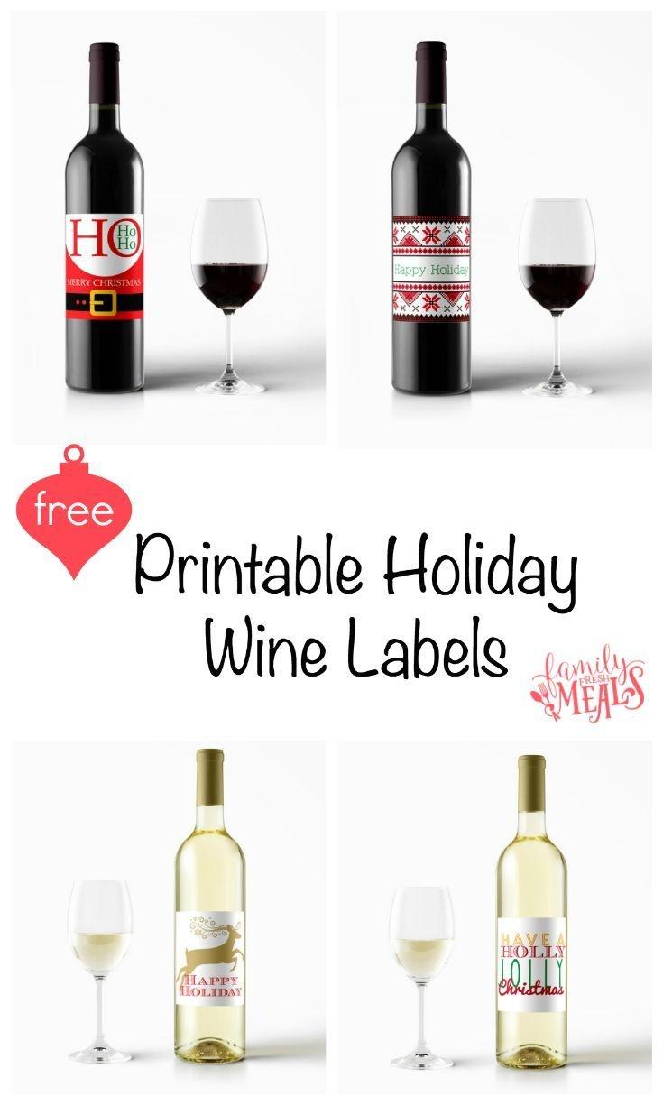 Free Printable Holiday Wine Labels | Printables | Christmas Wine - Free Printable Wine Labels