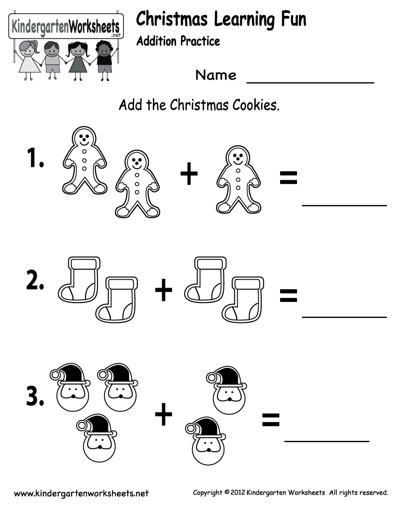 Free Printable Holiday Worksheets | Free Christmas Cookies Worksheet - Free Printable Christmas Books For Kindergarten