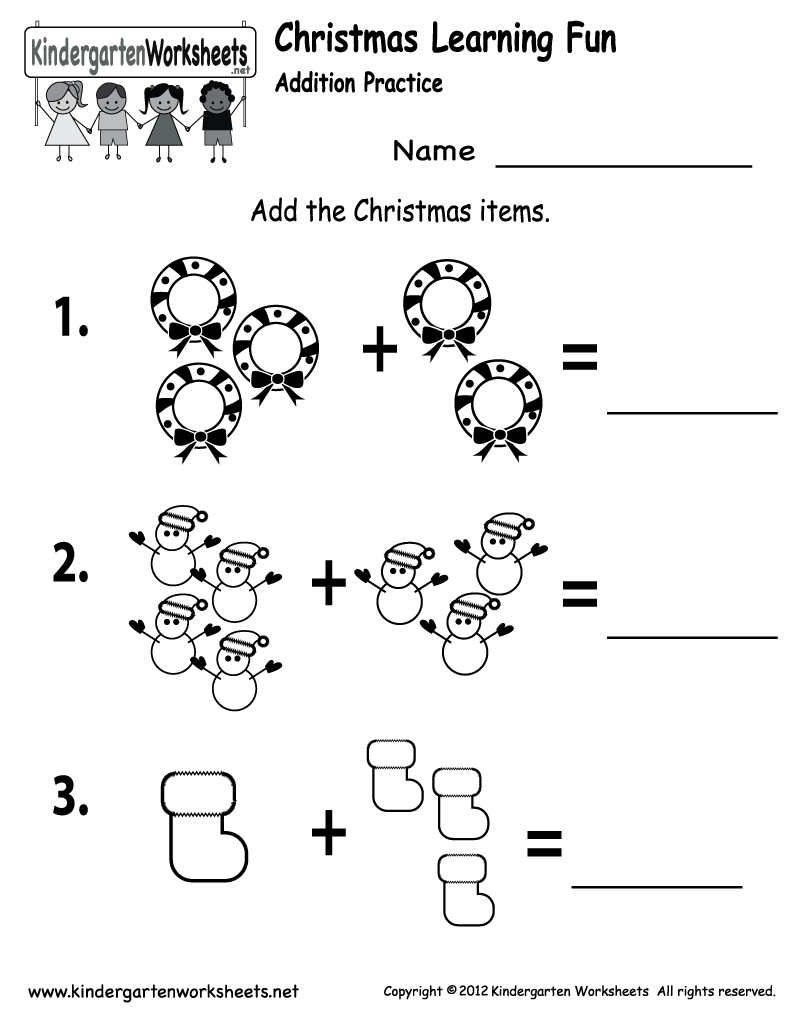 Free Printable Holiday Worksheets | Free Printable Kindergarten - Christmas Fun Worksheets Printable Free