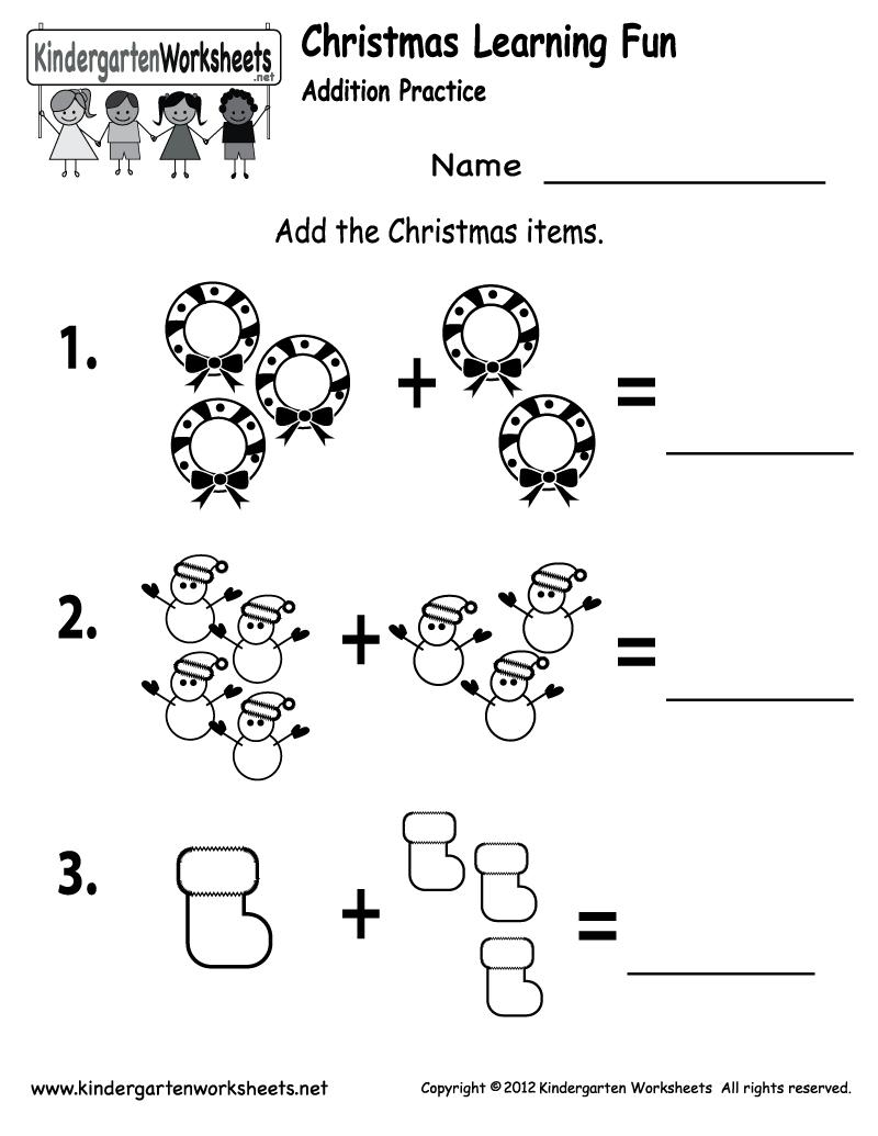 Free Printable Holiday Worksheets | Free Printable Kindergarten - Free Printable Kindergarten Math Activities