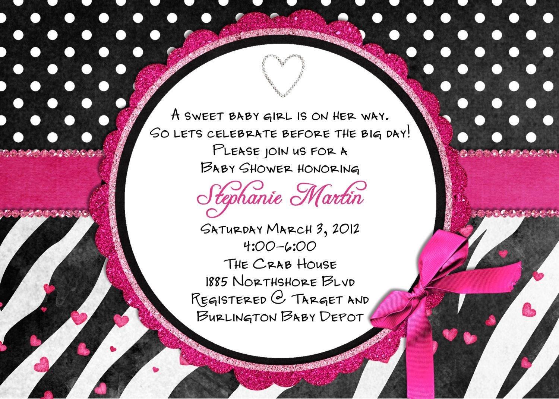 Free Printable Hot Pink Zebra Invitations   Free Printable Zebra - Free Printable Zebra Print Birthday Invitations