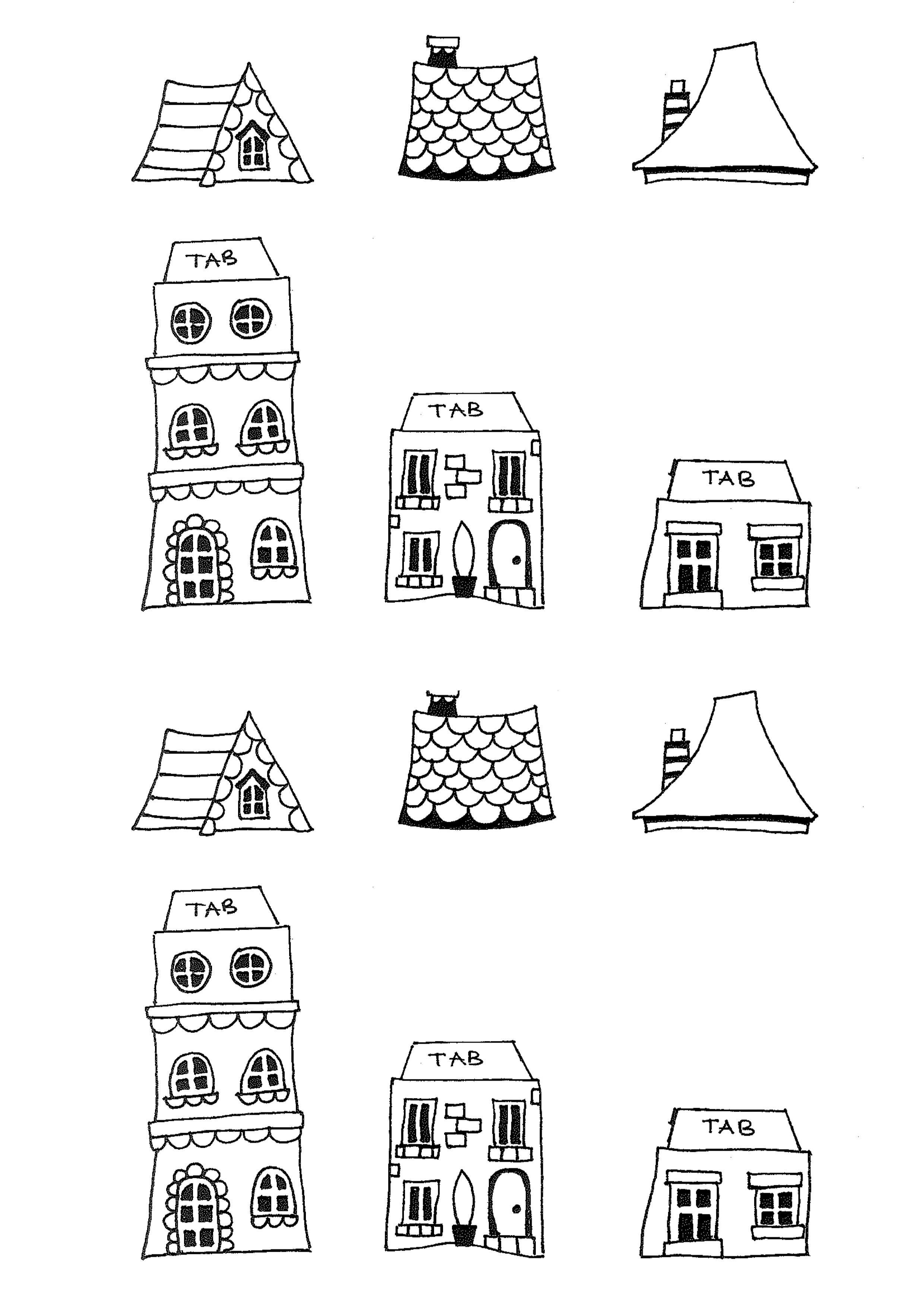 Free Printable House Templates | Printables | New Home Cards, House - Free Printable Card Templates