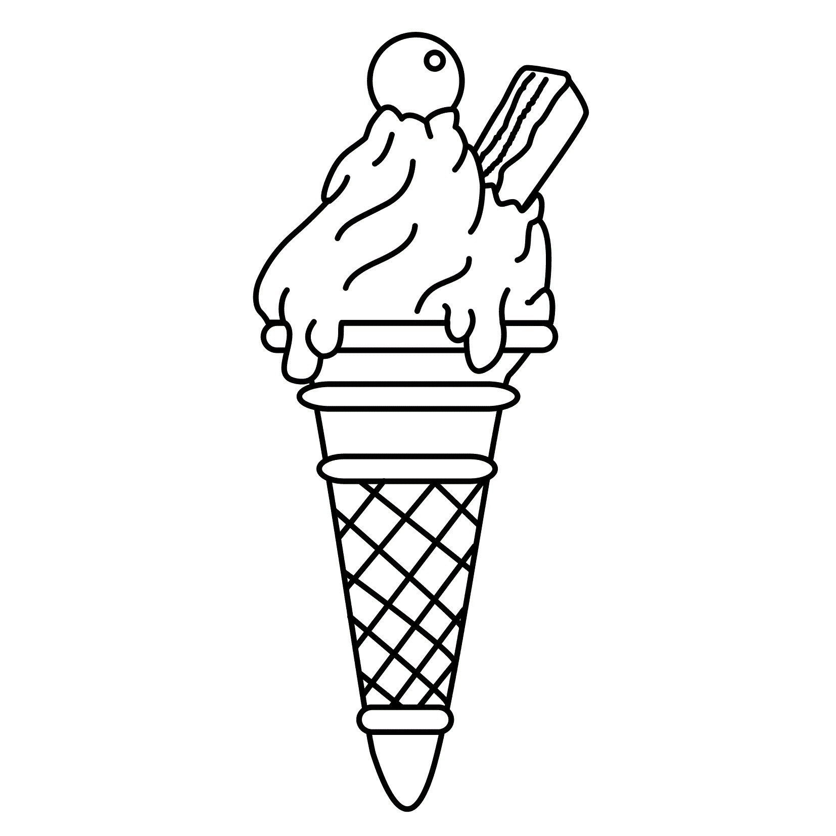 Free Printable Ice Cream Coloring Pages For Kids - Ice Cream Color Pages Printable Free