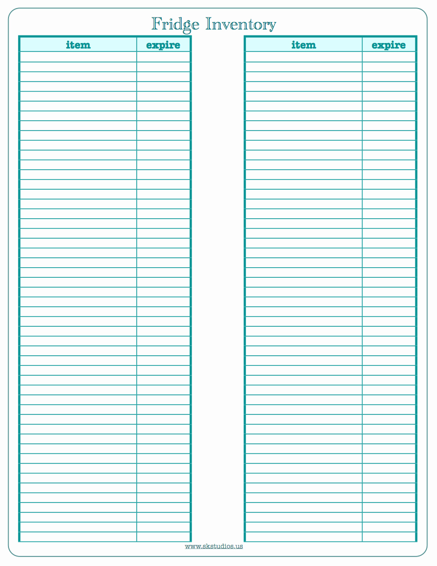 Free Printable Inventory Templates For Free Printable Inventory - Free Printable Inventory Sheets