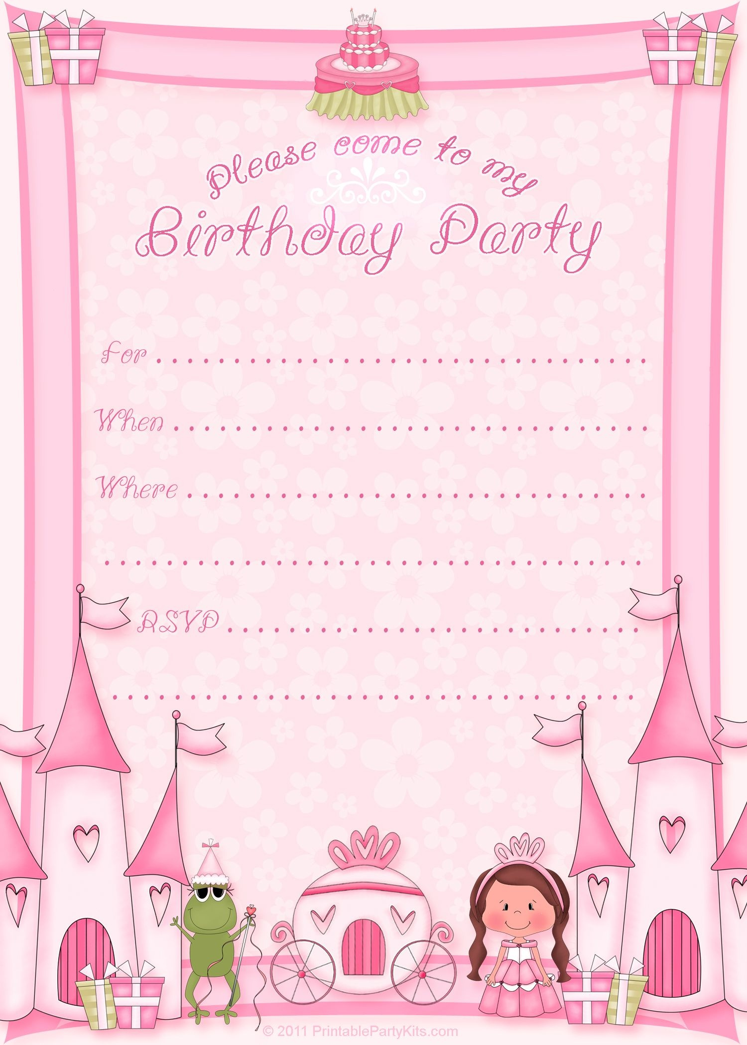 Free Printable Invitation. Pinned For Kidfolio, The Parenting Mobile - Free Printable Princess Invitation Cards