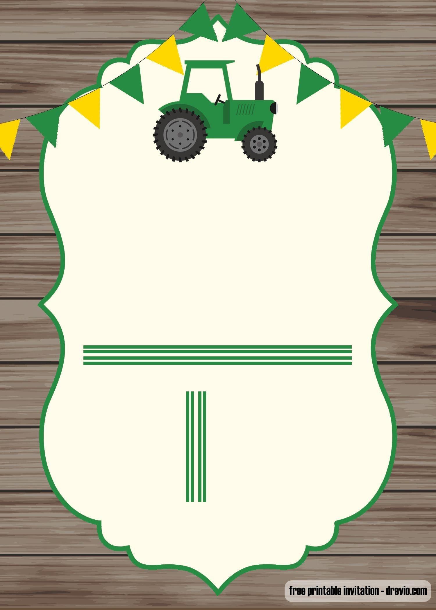 Free Printable John Deere Invitation Template | Baby 3! | Free - Free Printable John Deere Birthday Invitations