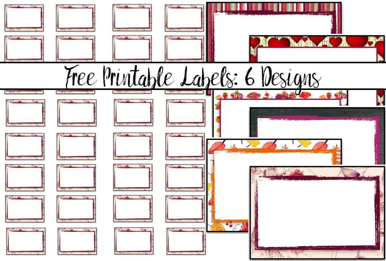 Free Printable Labels: 6 Different Designs - Free Printable Labels For Bottles