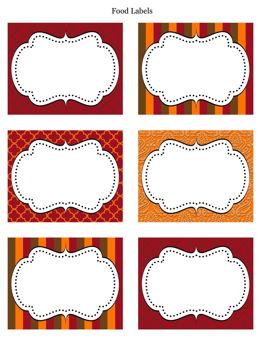 Free Printable Labels & Tags - For Food Buffet. Just Printed Them - Free Printable Buffet Food Labels