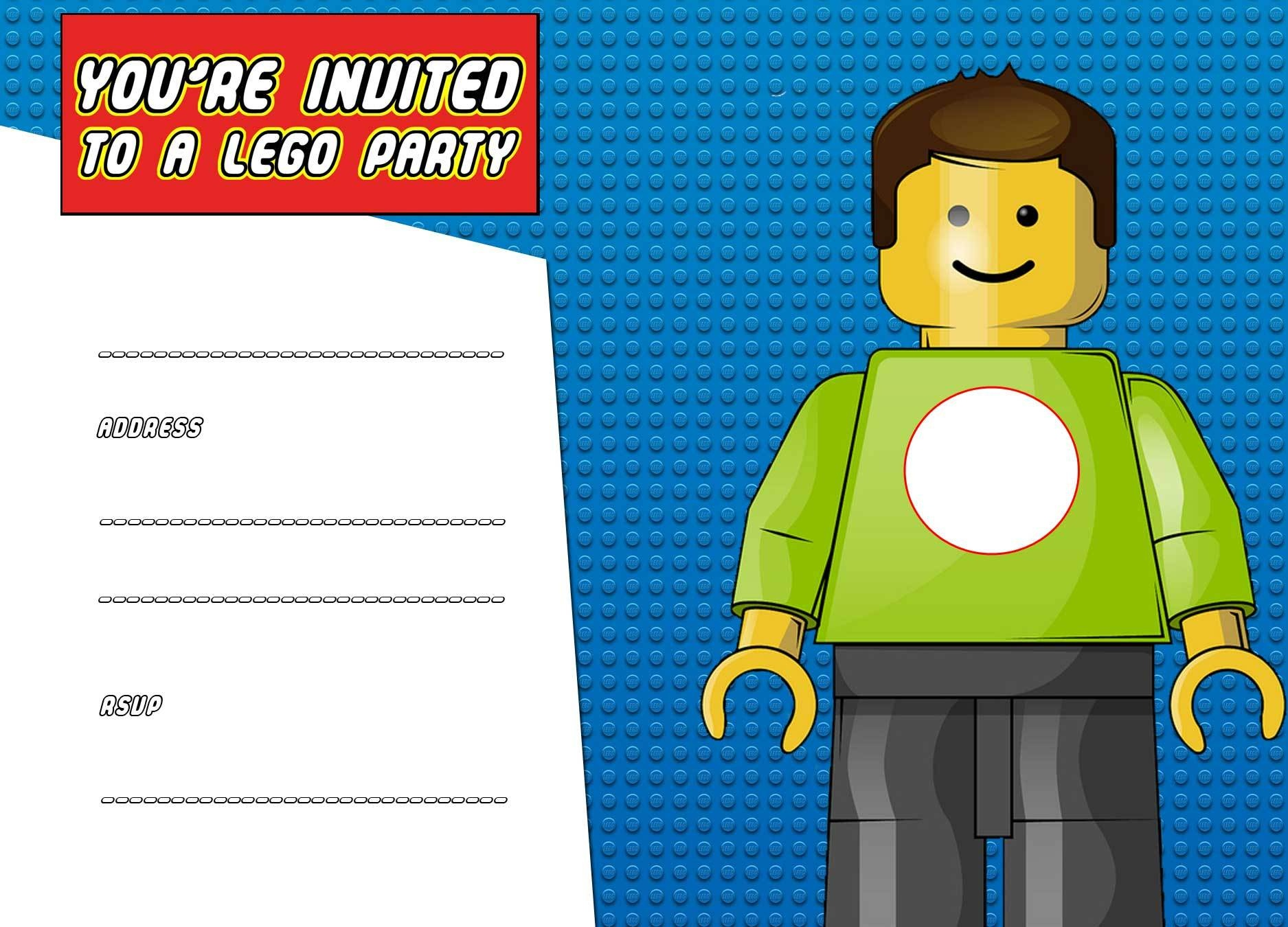 Free Printable Lego Birthday Invitation Template … – Randang - Lego Party Invitations Printable Free