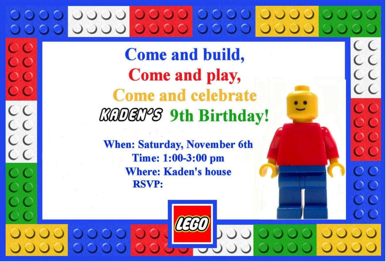 Free Printable Lego Birthday Invitations | Slctn Online - Lego Party Invitations Printable Free