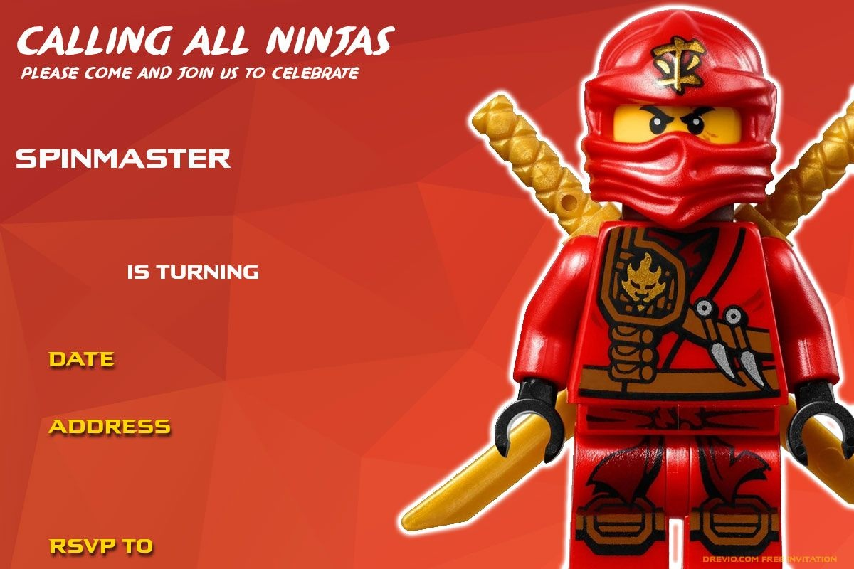 Free Printable Lego Ninjago Birthday | Free Printable Birthday - Lego Ninjago Party Invitations Printable Free