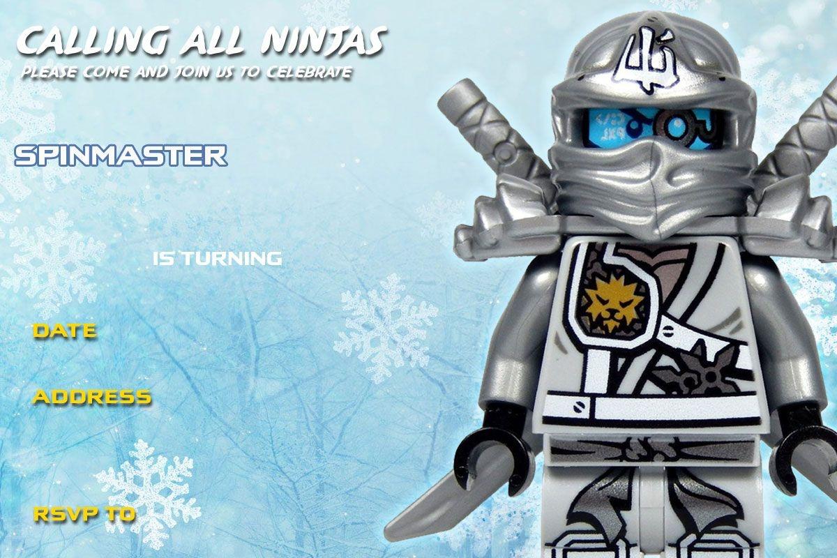Free Printable Lego Ninjago Birthday Invitation   Lego Party   Lego - Lego Ninjago Party Invitations Printable Free