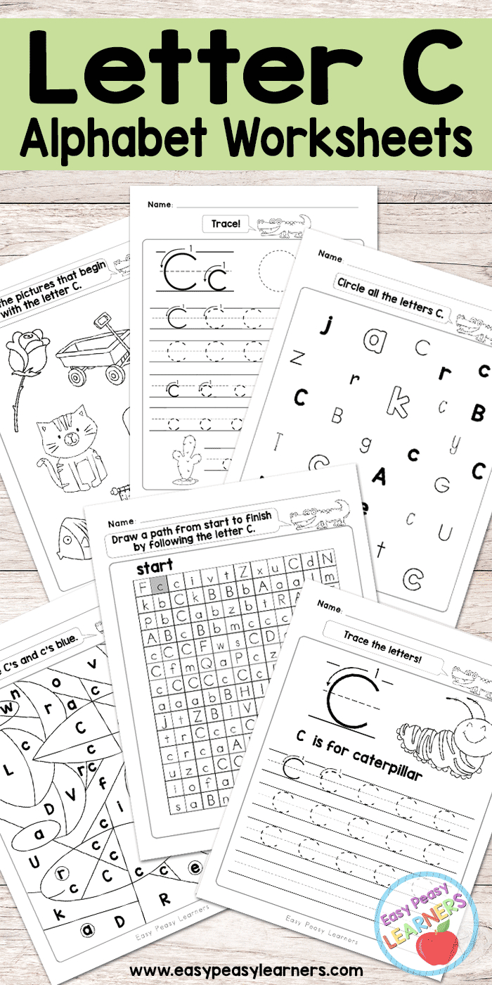 Free Printable Letter C Worksheets - Alphabet Worksheets Series - Free Printable Letter C Worksheets