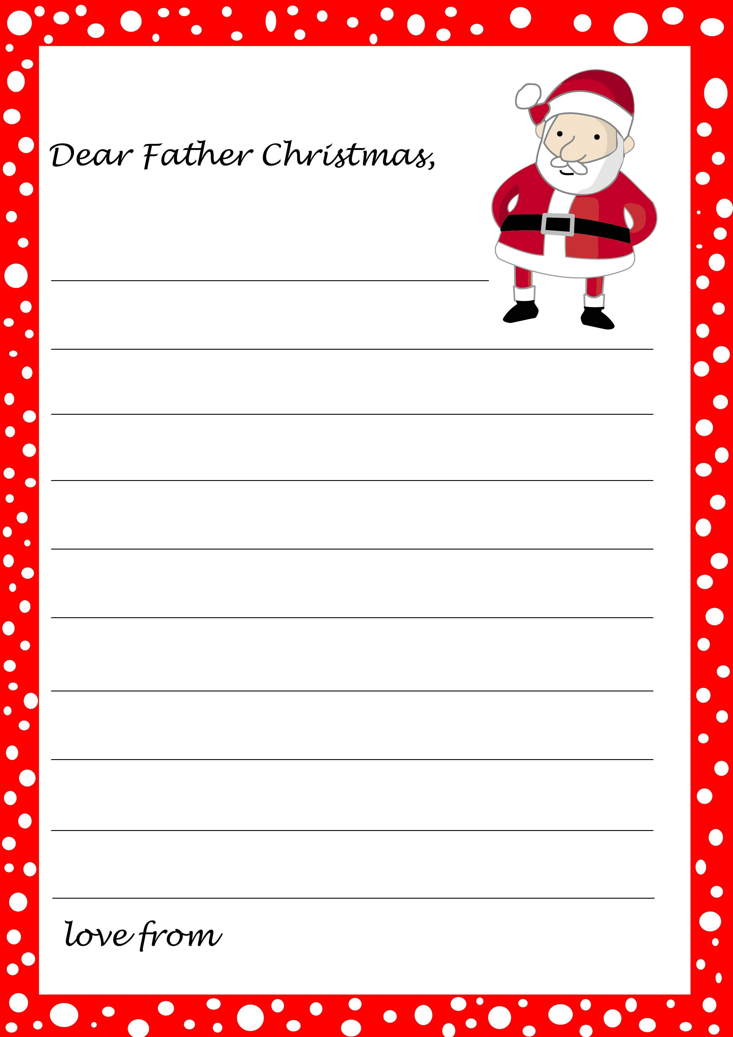 Free Printable Letter From Santa Template Download - Free Santa Templates Printable